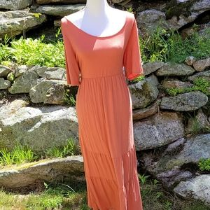 NWOT Maternity Dress Coral with Sleeves